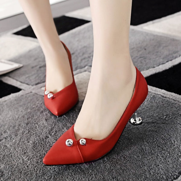 Pointed Toe High Heel Shoes Woman 8001
