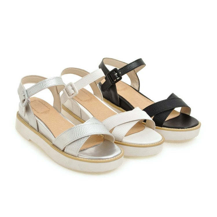 Women Sandals Platform Wedge Heels Shoes for Summer 6960