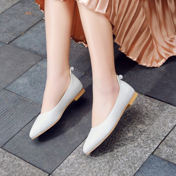 Sweet Pointed Toe Women Flat Shoes 2564