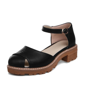 Women's Ankle Straps Covered Toe Sandals Dress Shoes for Summer 8849
