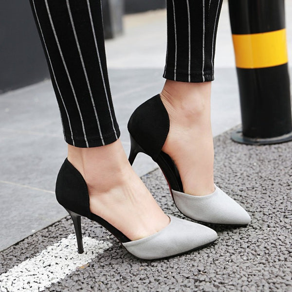 Pointed Toe Velvet High Heels Women Shoes 3306