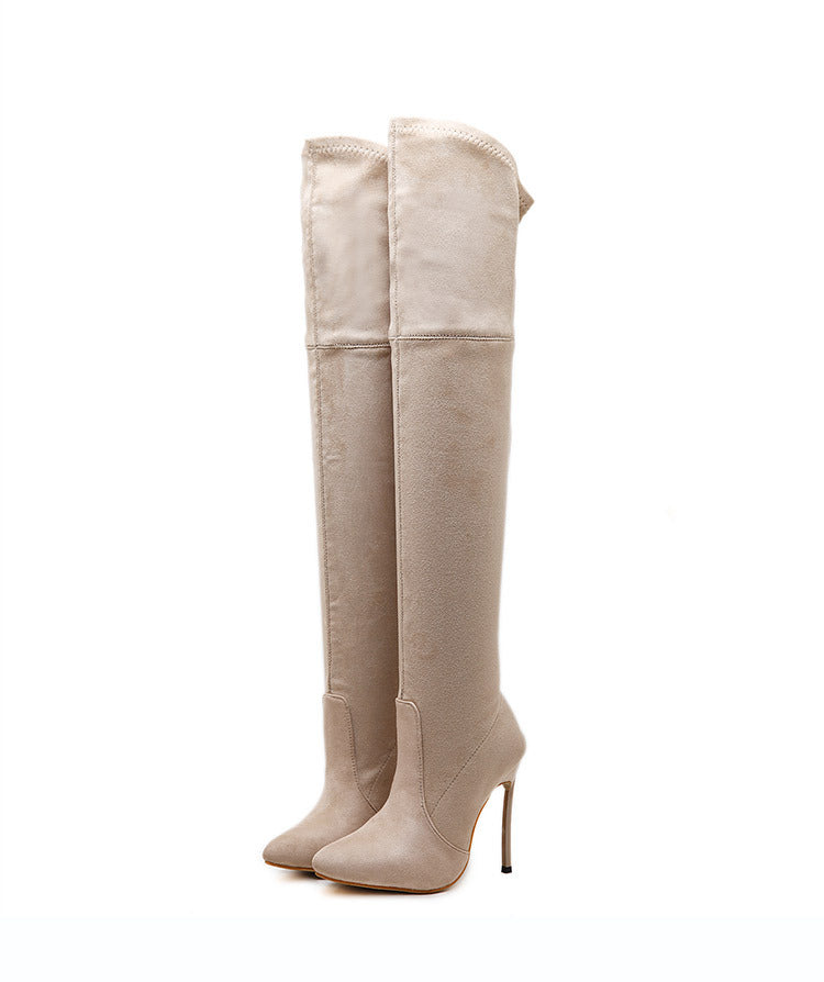 Slim Elastic Thigh High Boots Stiletto Heel 8927