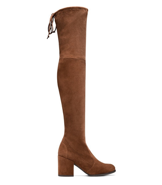 Round Toe Suede Woman's Slim Tall Boots Shoes