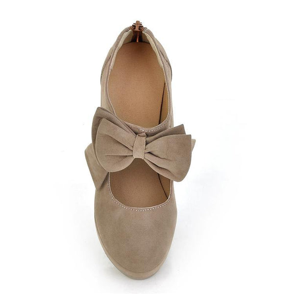 Sweet Bow Tie High Heeled Shoes for Women 9310