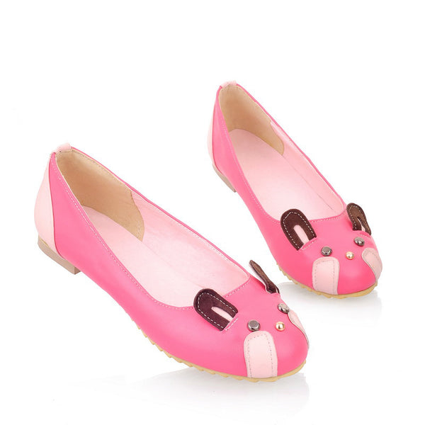 Rabbit Ear Women Flat Shoes 5523