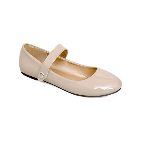 Patent Leather Mary Janes Flat Jelly Shoes for Women MF5047