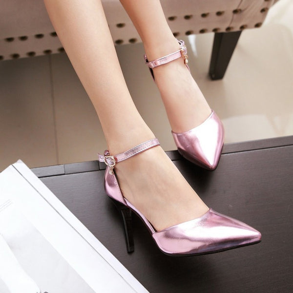 Women Pointed Toe High Heels Sandals Shoes MF4083