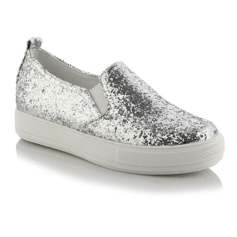 Casual Sequin Platform Flat Shoes for Women MF2858