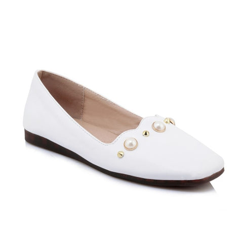Pearl Studded Women Flats Shoes MF5979