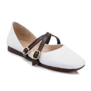 Buckle Belt Women Flats Shoes MF2861
