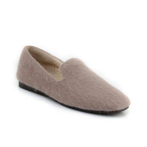 Fur Loafers Slip On Women Flats Shoes MF8272