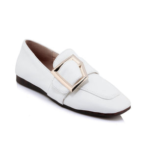 Slip On Faux Leather Women Flats Shoes MF3717