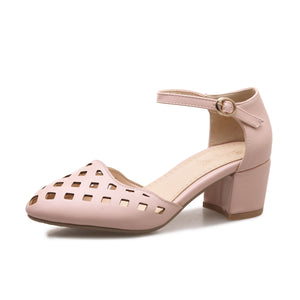 Women Pointed Toe Chunky Heels Sandals Shoes MF1919