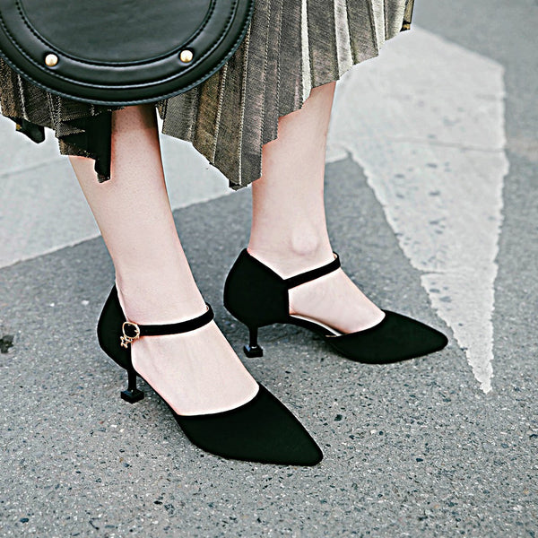 Women Ankle Straps Sandals Strange Heels Shoes MF4007