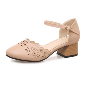 Women Mary Janes Chunky Heels Sandals Shoes MF6563
