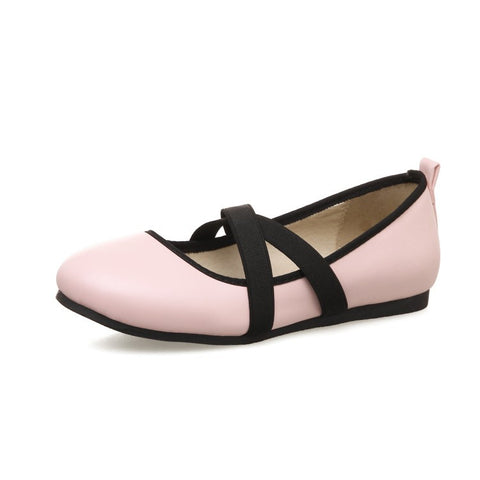 Faux Leather Flat Shoes for Women MF8113