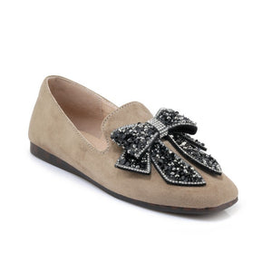 Rhinestone Bow Women Flats Shoes MF9351