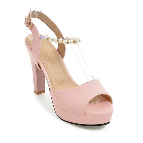 Women Pear High Heels Platform Sandals Shoes MF1822