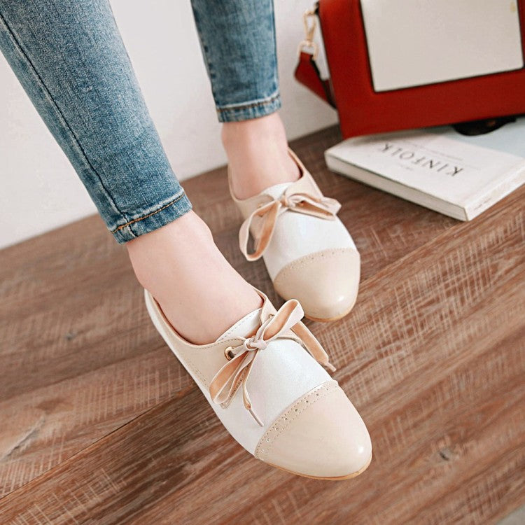 Women's Lace Up Chunky High Heels Shoes