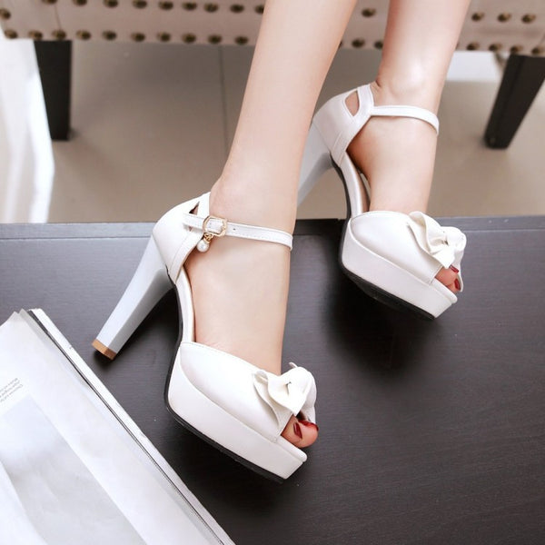 Open Toe Women High Heels Platform Sandals Shoes MF9797