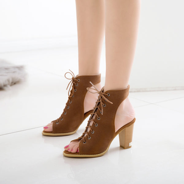 Women Chunky Heels Sandals Shoes