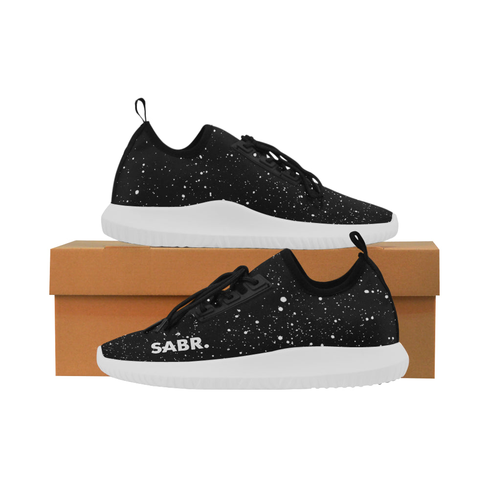 SABR. Splatter Black Women's Running Shoe - World Wide Dawah