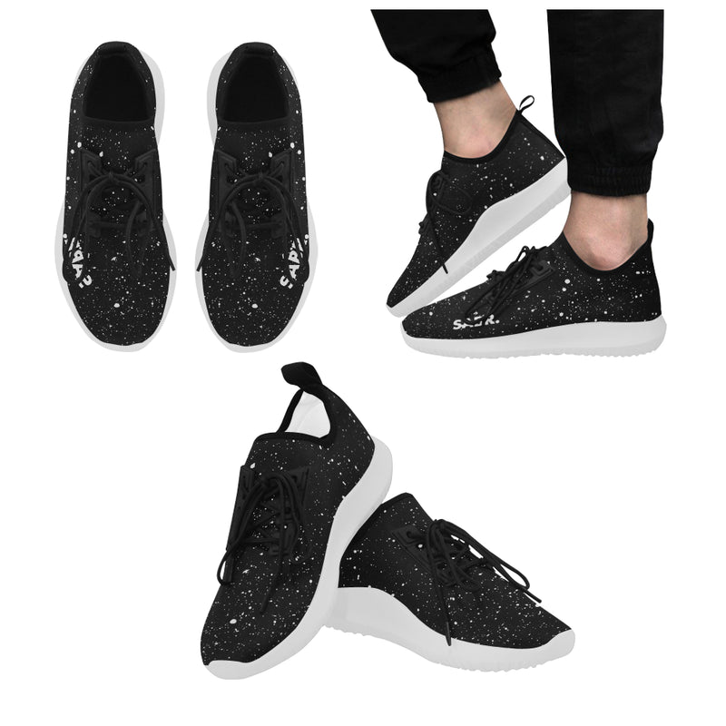SABR. Splatter Black Men's Running Shoes - World Wide Dawah