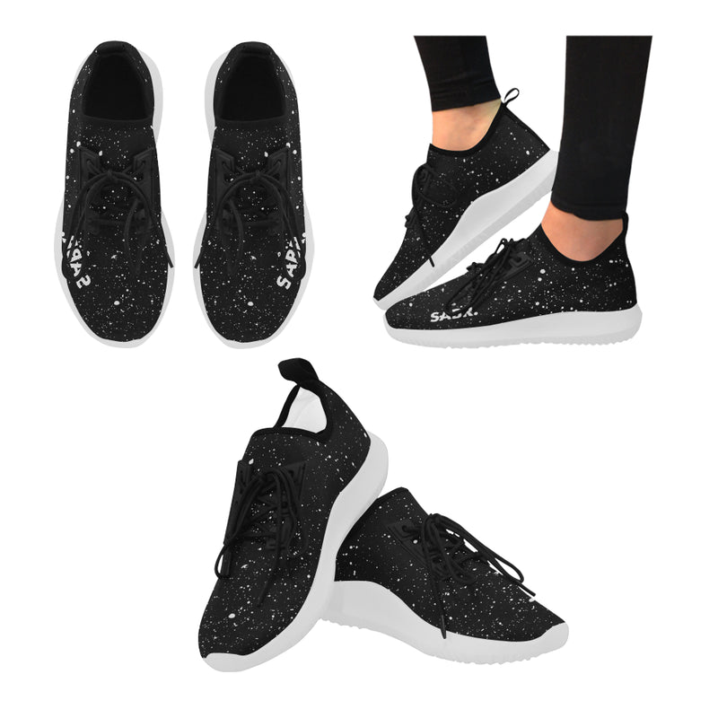 SABR. Splatter Black Women's Running Shoe