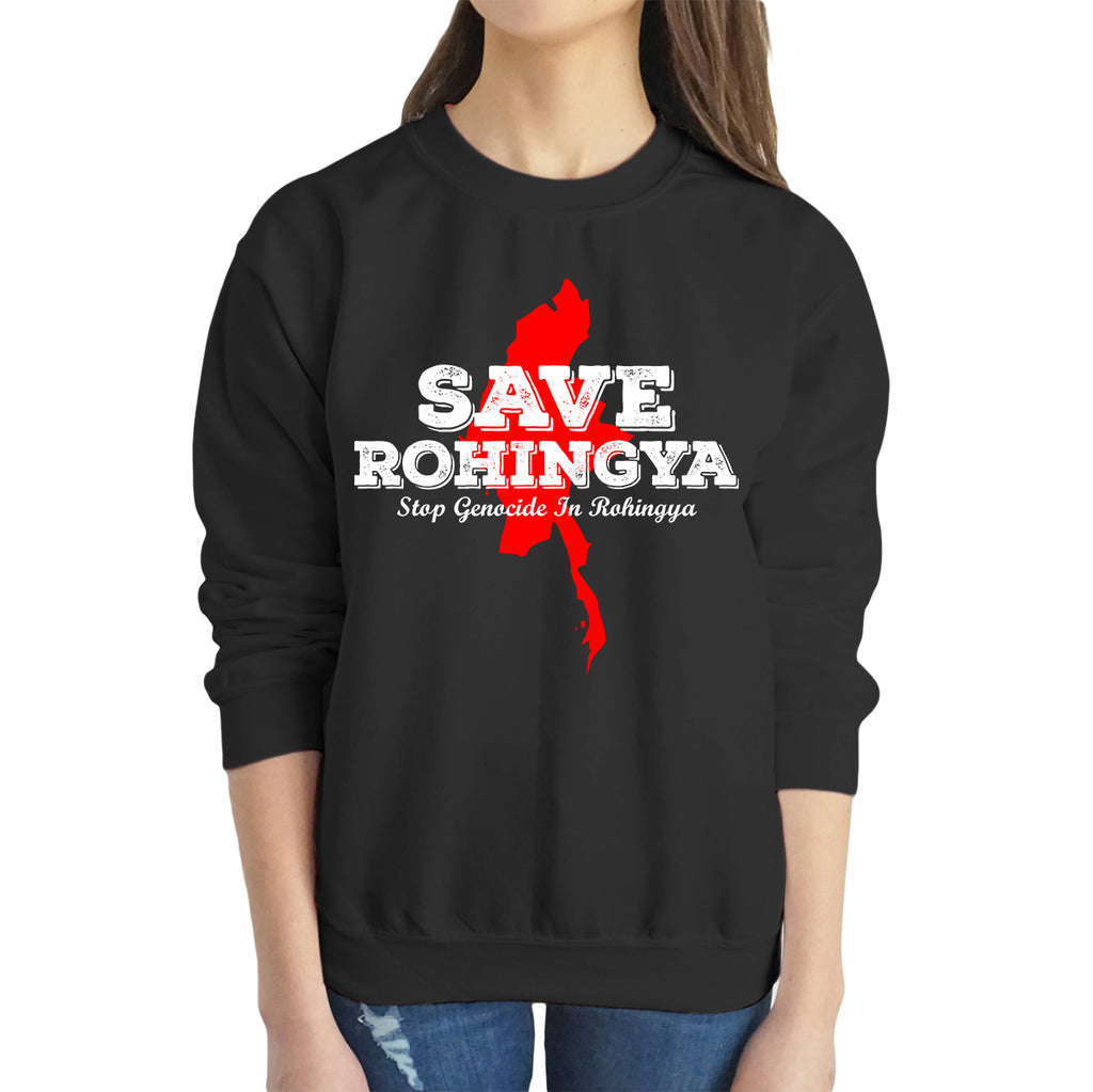 SAVE ROHINGYA Sweatshirt - World Wide Dawah