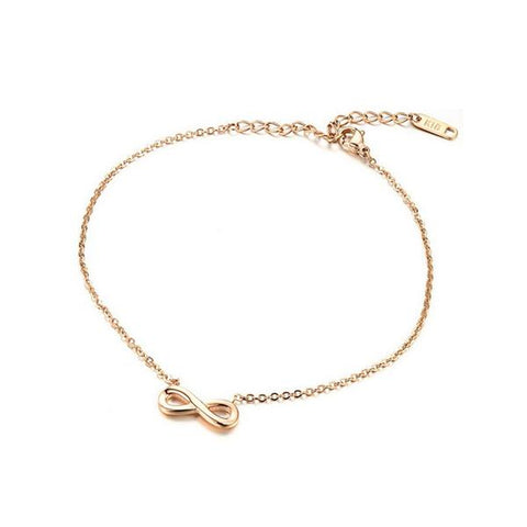 Infinity Anklet (Rose Gold)