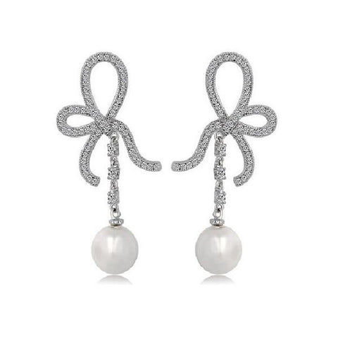 Glamorous Pearl Drop Earrings