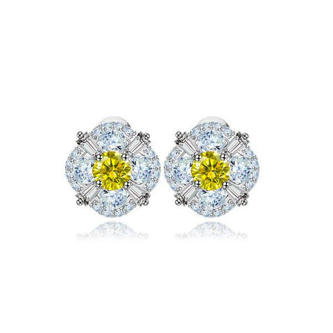 Citrine Love Stud Earrings