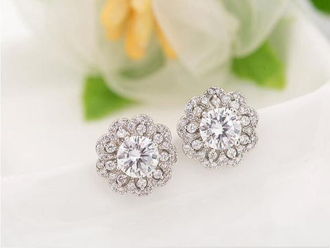 Dahlia Blossom Stud Earrings