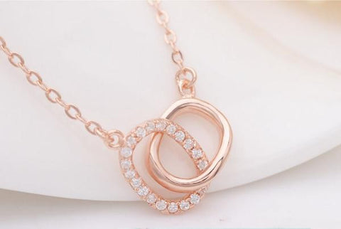 Juxtapose Necklace - Rose Gold