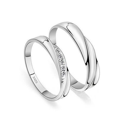 Intertwined Love Couple Rings