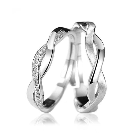 Intertwined Dream Couple Rings