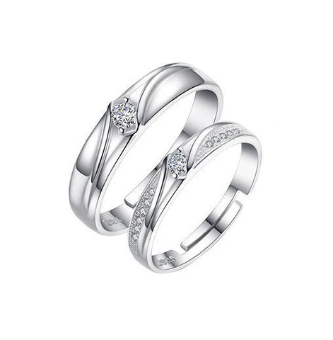 White Sonata Couple Rings