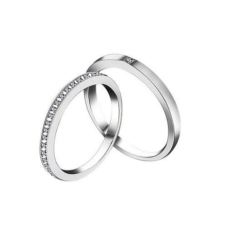 Couple Rings Silver For Sale - Love Within - Vivere Rosse