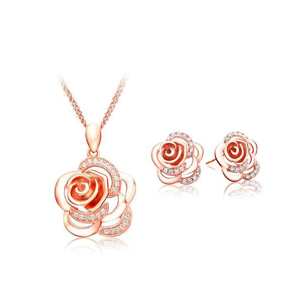 Camelia Flower Jewelry Set - 2 colors