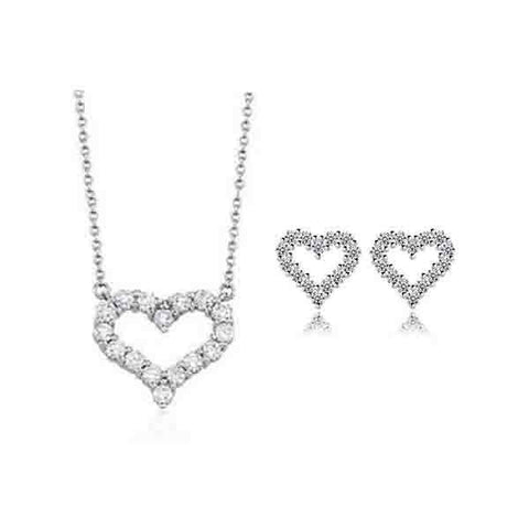 Dazzling Heart Jewelry Set