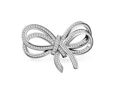 Endearing Love Knot Brooch