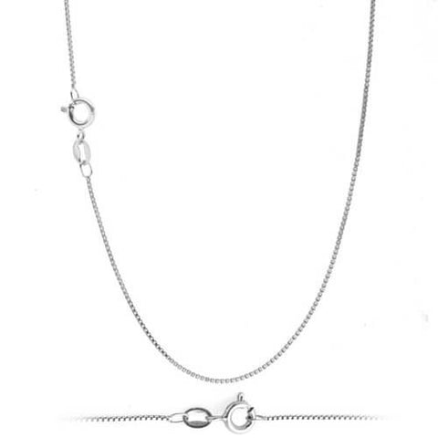 Jewelry Silver Authentic  For Sale- Box Chain Necklace - Vivere Rosse