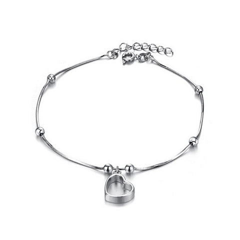 Floating Heart Anklet - VivereRosse