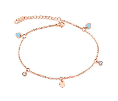 Chain of Hearts Anklet