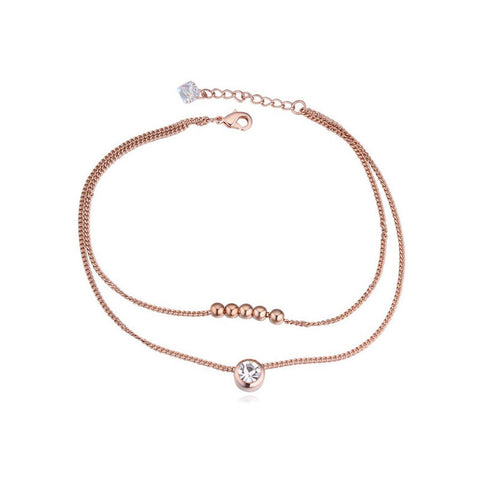 18K White Gold / Gold Plated Alloy - Anklet