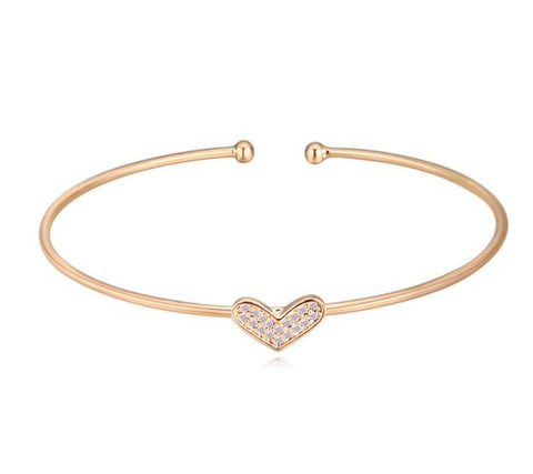 Kieziah Heart Bangle - Gold