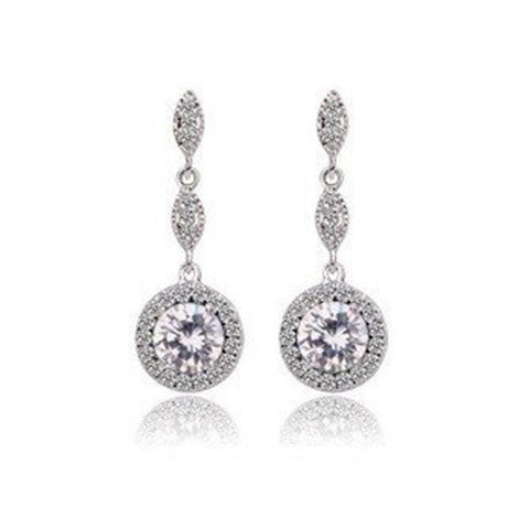 Monroe Link Earrings - Crystal
