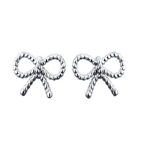 Ribbon Knot Stud Earrings