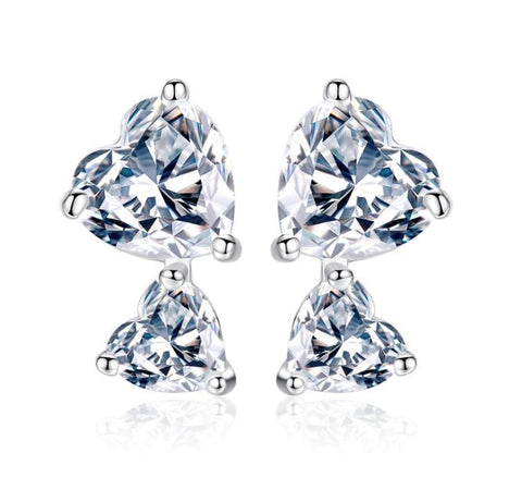 Double Happiness Stud Earrings