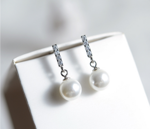 Posh Pearl Drop Earrings